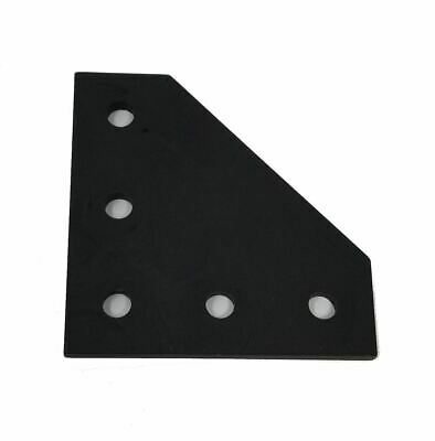 Black 90° Plate Bracket for 2020 Extrusion