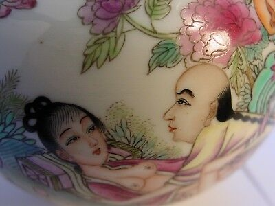 CHINE pot porcelaine EROTIQUE QIANLONG Vers 1910 curiosa
