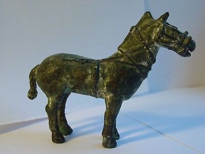 Bronze patine vert antique cheval ancien