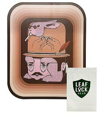 RAW Magnetic Rolling Tray Cover Fish with Leaf Lock Gear Smell Proof Tobacco Pou