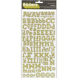 NEW American Crafts - Thickers Printed Chipboard Stickers Sunrise/Limeade