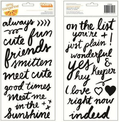 American Crafts - Amy Tangerine Sketchbook ThickersRise & Shine Grace Phrase/...