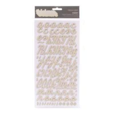 NEW American Crafts - Thickers Printed Chipboard Stickers Forest-Vanilla