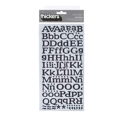 NEW American Crafts - Thickers Black Glitter Letter Stickers: Reindeer Font