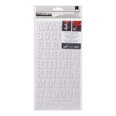 NEW American Crafts - DIY Thickers Foam Alphabet Stickers - Roller Rink