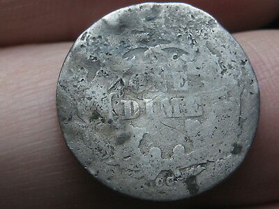 1876 CC Seated Liberty Silver Dime- Rare Carson City