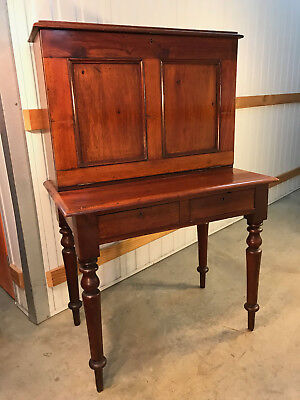 Antique Australian Colonial Cedar Drop Front Desk Bureau Fitted Interior c1800's