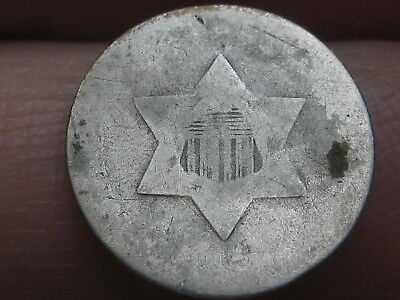 1851-1853 Three 3 Cent Silver- Old Type Coin