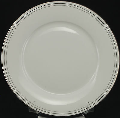 SET of 2 plates - Compton Platinum Rings C501 Dinner Plate VGC