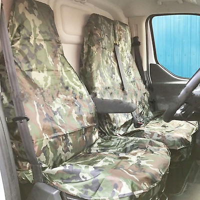 For Ford Transit Mk7 Van 07 On Seat Covers Camouflage  Camo Green Heavy Duty 2-1