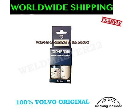 VOLVO BLACK STONE PAINT 019 Touch-Up Pensil Set 2x 9ml GENUINE 31266405