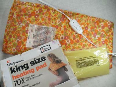 Northern King Size Heating Pad Vintage 3 Heat Settings Flower Cover Retro