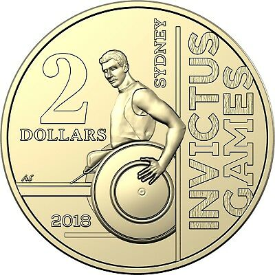 *new Coin Roll* - Australia 2018 $2 - Invictus Games Coin In Official Mint Roll