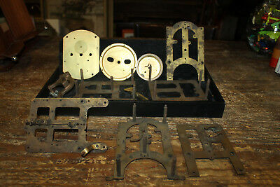 Vintage Brass and Cast Clock Parts