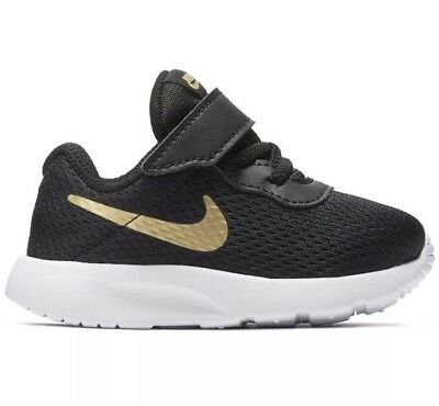 Nike Tanjun TDV Toddler Boy Shoes SNEAKERS BLACK  GOLD Kids 818383 016 SZ  7C- d2ea16bf53