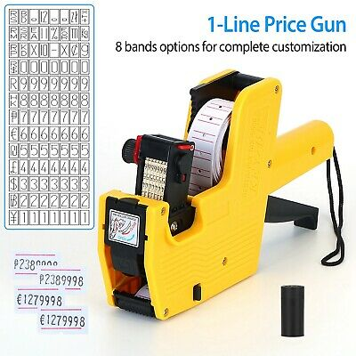 Price Tag Gun Labeler MX-5500 EOS 8 Digits Labeller Included Labels & Ink Refill