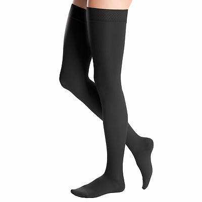 Medi Duomed Advantage Soft Opaque ClosedToe Thigh Highs w/Beaded Band -15-20mmHg