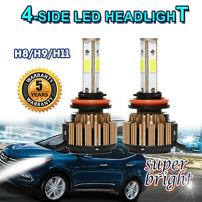 NEW! 2x LED Headlight Kit H11 796W White For Hyundai Elantra GT Santa Fe Sonata