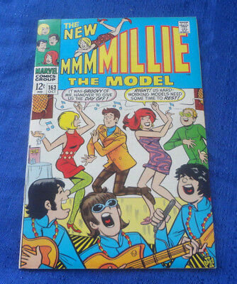 Marvel Silver Age MILLIE THE MODEL #163 Humor Romance Teen Comic Book 1968