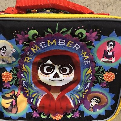 COCO Lunch Box Soft Kit Insulated Cooler Bag Disney Remember Me-NEW