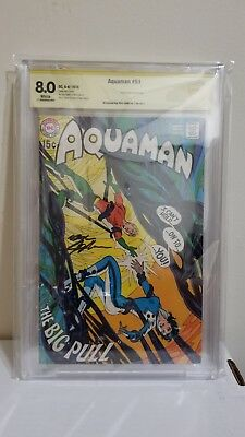 Aquaman #51 CBCS 8.0 WP (1st series) signed by Neal Adams (not CGC) DC Comics