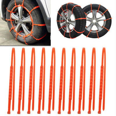 10Pcs Snow Anti-Skid Tyre Tire Chain Thickened For Car Truck SUV Winter Driving