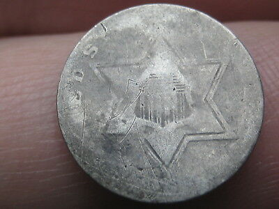 1854, 1855, 1856, 1857 or 1858 Three 3 Cent Silver Trime