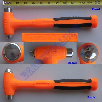 New Snap On Orange Dead Blow Ball Peen Soft Grip Hammer 8oz. HBBD8 Made in USA