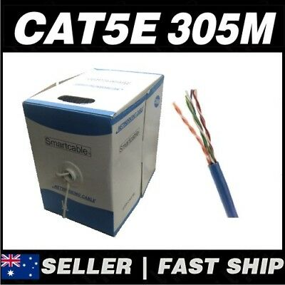 305m Cat5 Cat 5e Home Ethernet Network LAN Cable Roll W/ RJ45 Connectors free