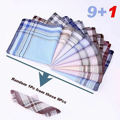 10 Pack Men Pocket Square Silk Paisley Handkerchief Floral Hanky Wedding Party