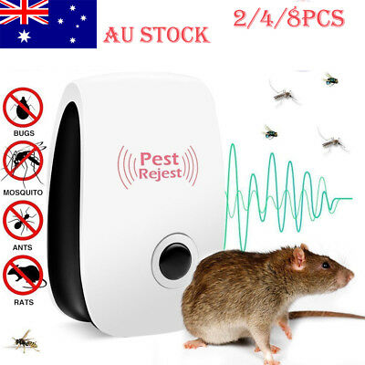 8* Pest Repeller Reject Ultrasonic Electronic Mouse Rat Mosquito Insect Control