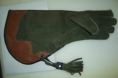"3 Layer Nu buck Leather Falconry Eagle Glove 17"" --"