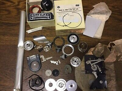 Assorted ROLLEIFLEX / ROLLEICORD Old Vintage TLR Camera Parts - circa 1950