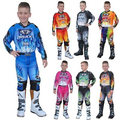 WULFSPORT Attack 2017 CUB YOUTH SHIRT PANT SUIT OFF ROAD MOTOCROSS ENDURO TRIAL