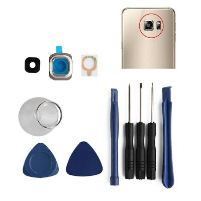 Multicolor Rear Back Camera Glass Lens Cover + Tools For Samsung Galaxy S6 G920