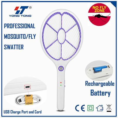 High Power Rechargeable Fly Swatter Portable USB Charging Pest Control