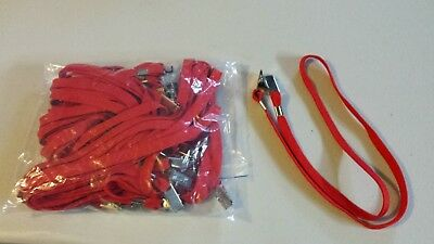 20x LANYARDS - 12mm RED Double Alligator Clip