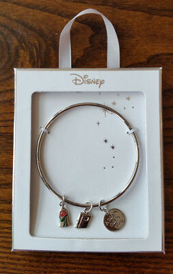 Primark Disney Beauty and the Beast Bangle with Charms in Gift Box - NEW Rose