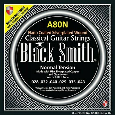 Classical Guitar Strings BlackSmith A80N Nano Coated Silverplated Wound 028-043