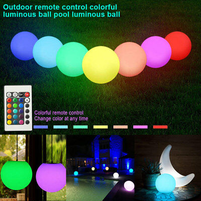 Solar LED Light Ball Cordless Night Lights with Remote Control Pool Floating Orb