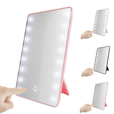 Portable 16 / 22 LED LightTouch Screen Makeup Cosmetic Mirror Tabletop Bathroom