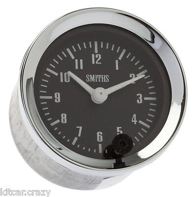 Smiths Analogue Time Clock , 52Mm Black Face With Chrome , Mini , Mg, Gae128X