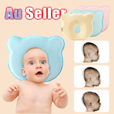 Baby Infant Newborn Anti Roll Support Prevent Flat Head Neck Memory Foam Pillow