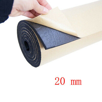 1Roll 20mm Car Sound Proofing Deadening Vehicle Insulation Closed 50 X 100cm