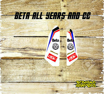 Beta Evo X Trainer Rr 2T 4T Rr Enduro Lower Forkguards-Stickers-Decal- All Years