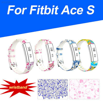 Bands for Fitbit Ace, Clasp Bracelet Strap Printed Band kids sport Small=19.8cm