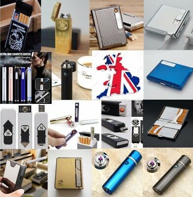 USB lighter Flameless Electrical dualarc rechargeable windproof cigarette Gifbox