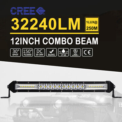 32inch LED Work Light Bar Dual Rows Spot Flood Combo OffRoad Driving Lamp 4X4 31