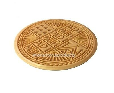 Traditional Greek Orthodox Prosphora Prosforo Plastic Stamp Seal Holy Bread 5.5""