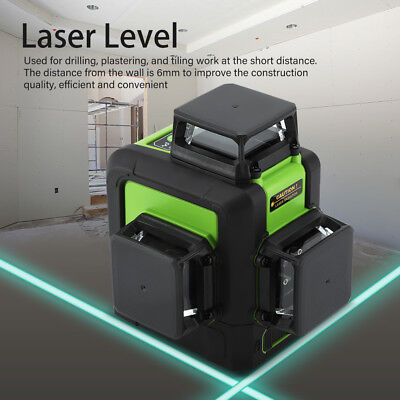 Green Laser Level 12 Line Self Leveling 3D 360° Rotary Cross Measuring Tool Hot